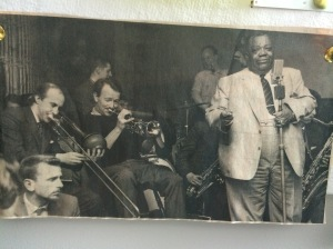 Humphrey Lyttleton and Jimmy Rushing (among others) doing their thing.