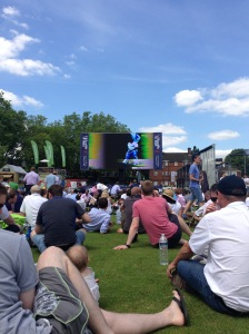 The big screen in the nursery at Lord's